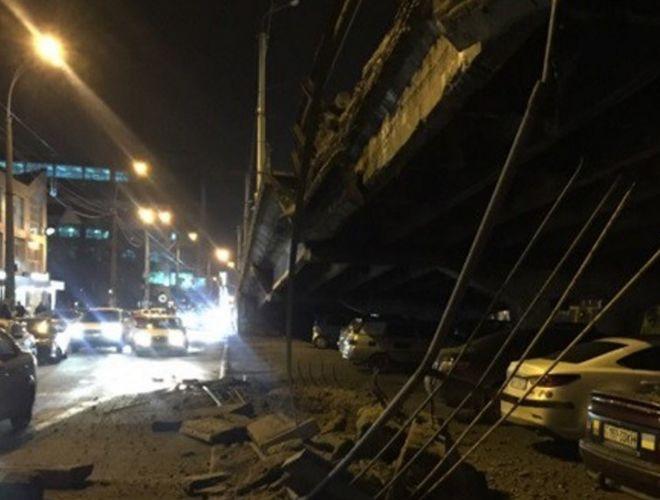 Как столичным водителям объехать обрушившийся мост на Шулявке