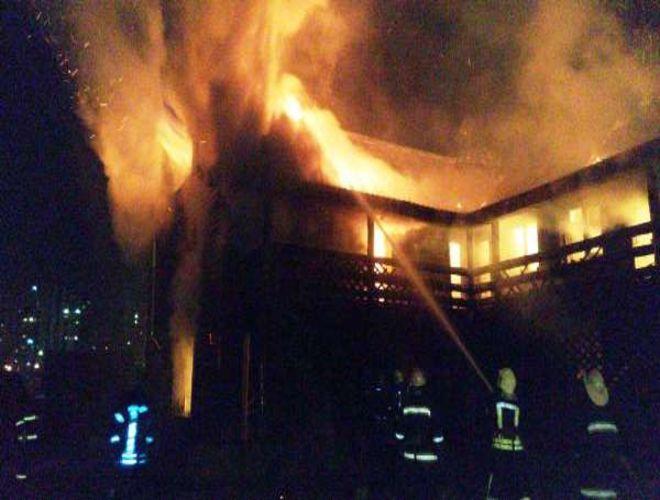 В Киеве горел оздоровительный центр