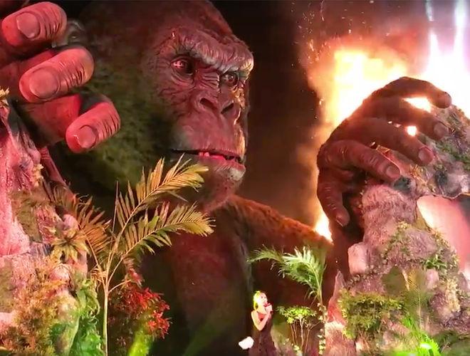 Кинг-Конг загорелся во время премьеры фильма