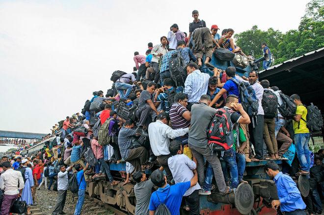 Что происходит в час пик в Бангладеше