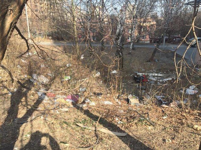 В центре Киева устроили мусорную свалку
