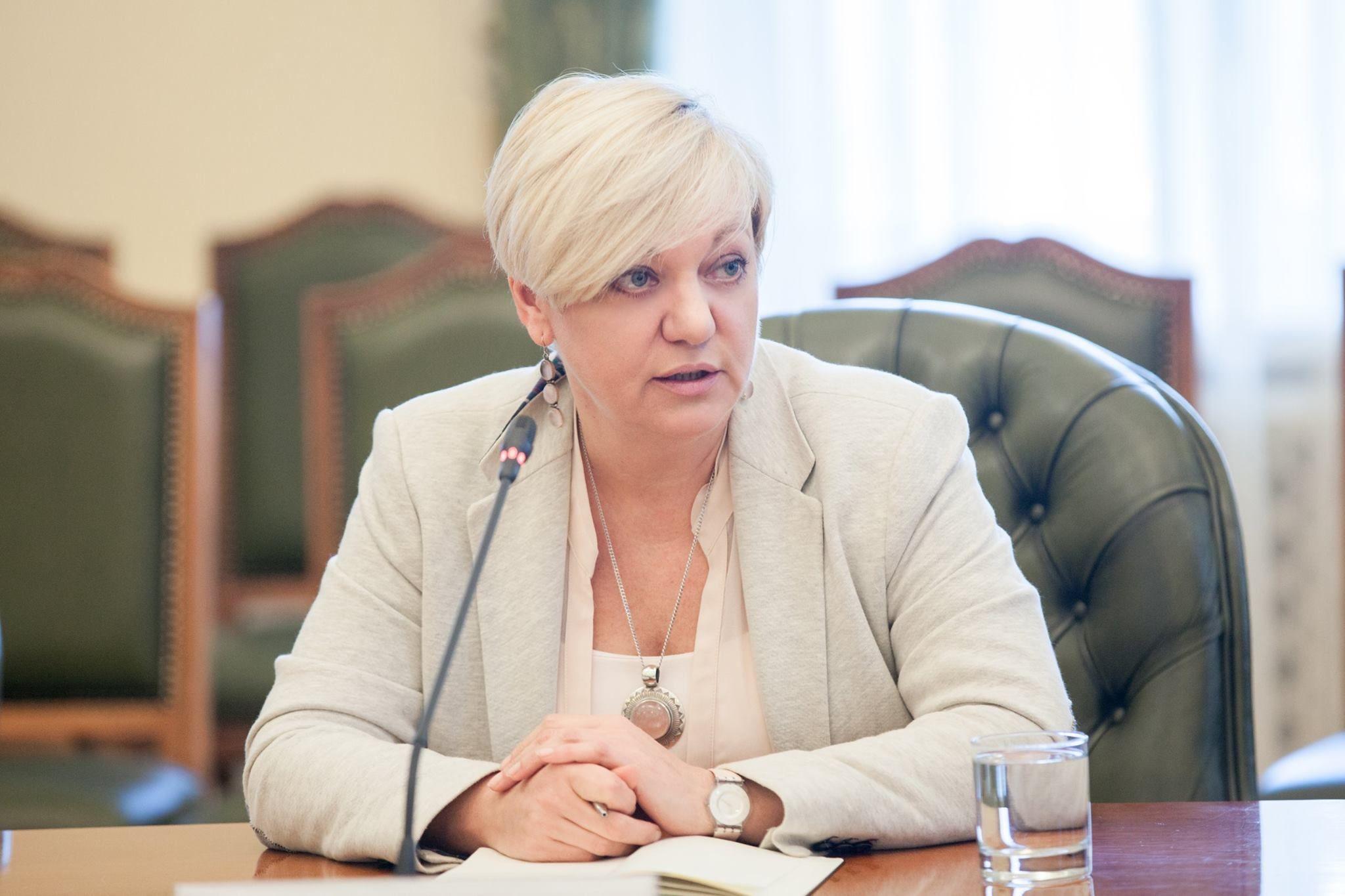 Гонтарева отчиталась о своих доходах
