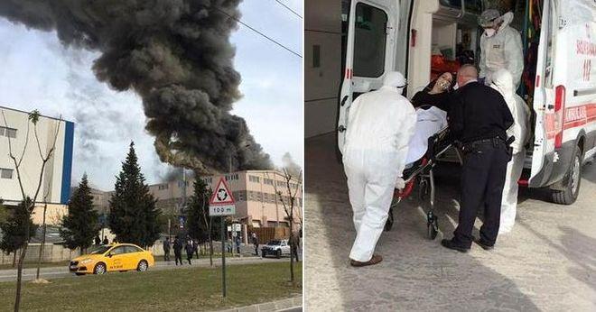 В Турции произошел мощный взрыв на одной из фабрик