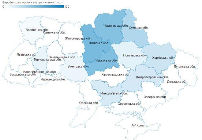 На карте Украины показали, где производят качественное молоко