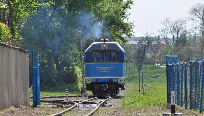 В Ужгороде запустили детскую железную дорогу