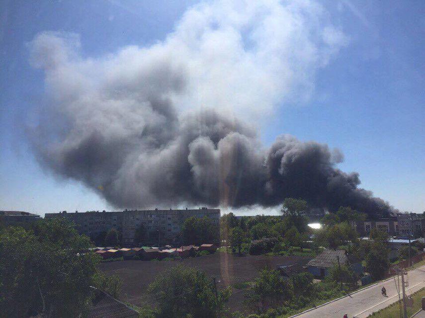 Под Киевом горела суконная фабрика