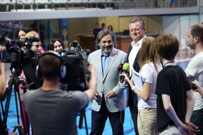 Дмитрий Екимов и Игорь Лысов провели пресс-тур к чемпионату Европы по прыжкам в воду