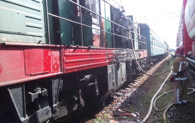 В Кировоградской области загорелся поезд с пассажирами