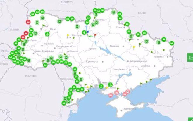 Украинцы смогут отслеживать заторы на границах