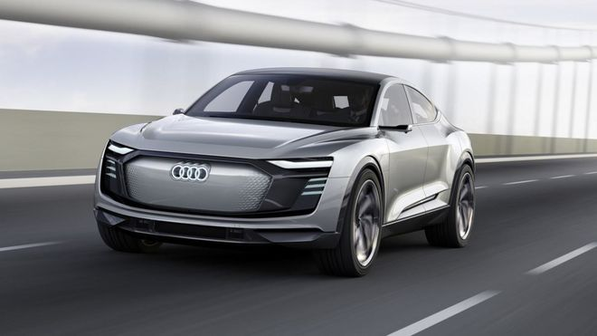 Электромобиль Audi замечен во время тестов