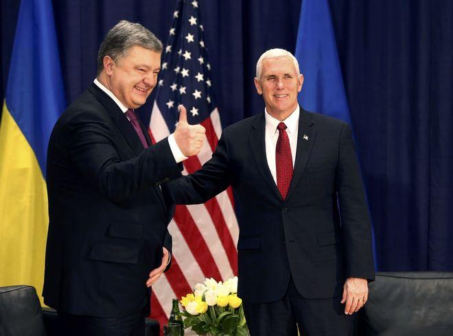 В США подтвердили встречу Порошенко с Пенсом