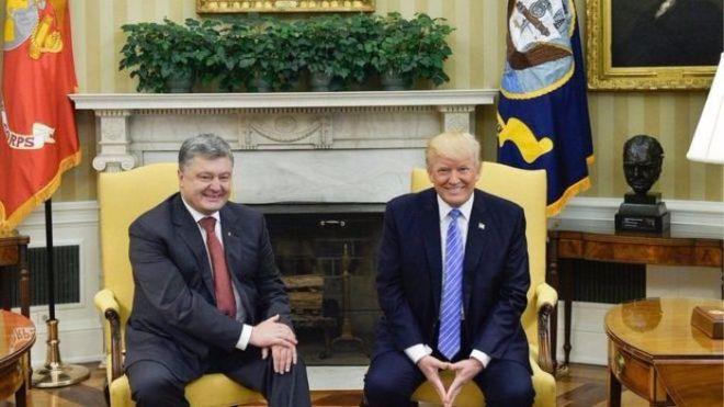 На первой встрече Порошенко и Трампа России уделили особое внимание