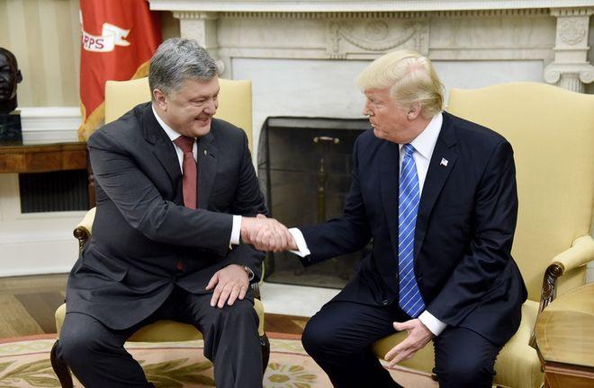 Как Порошенко с Трампом общался (Фото)