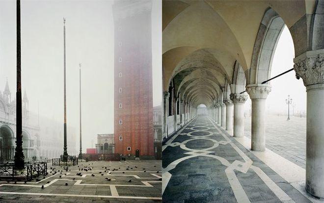 Венеция в тумане кажется безлюдной