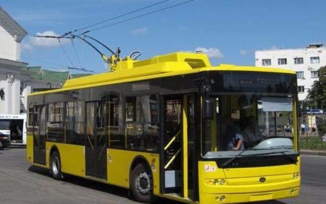 В Киеве на время перестанет ездить один из троллейбусов
