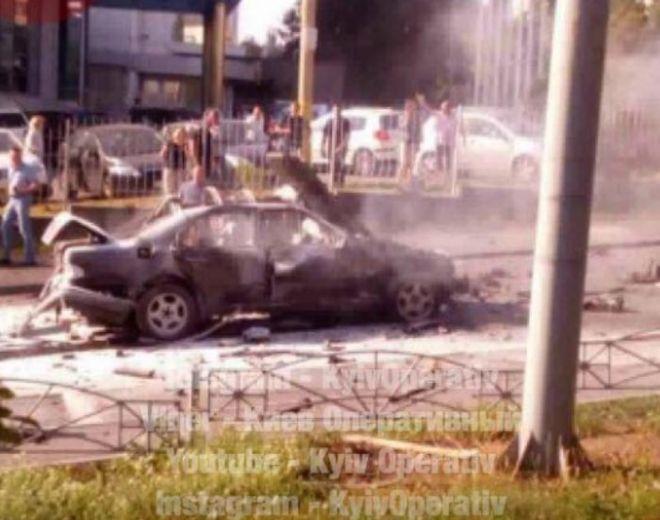 В Киеве взорвался очередной автомобиль