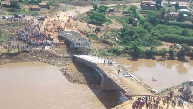 В Кении рухнул мост, построенный китайцами