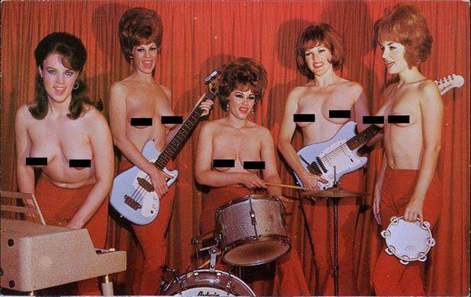 Голая грудь на сцене: показали самые известные топлес-группы XX века