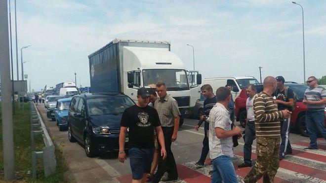АТОшники заблокировали трассу Киев – Чоп