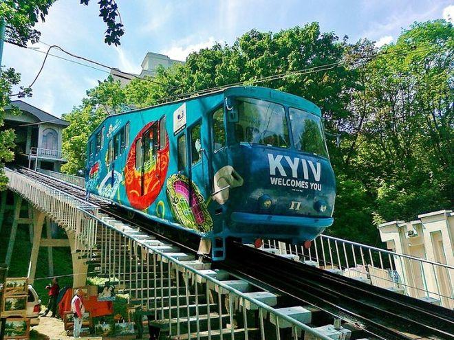 Киевский фуникулер не будет работать месяц