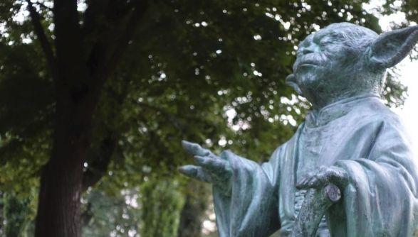 В столичном парке появился мастер Йода