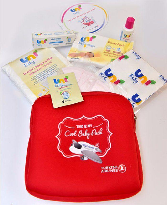 Turkish Airlines начала выдавать специальные наборы для младенцев