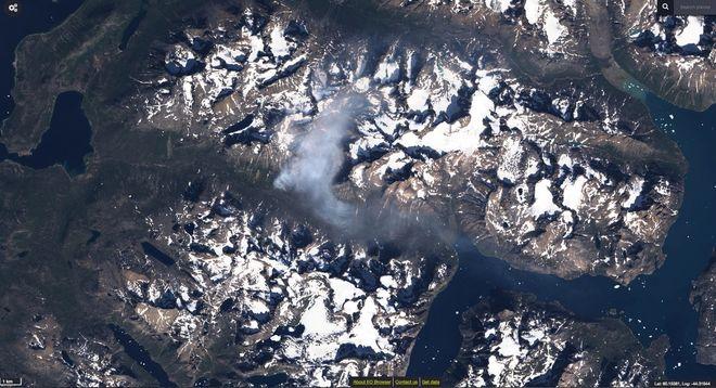 В Гренландии уже больше недели бушует масштабный пожар
