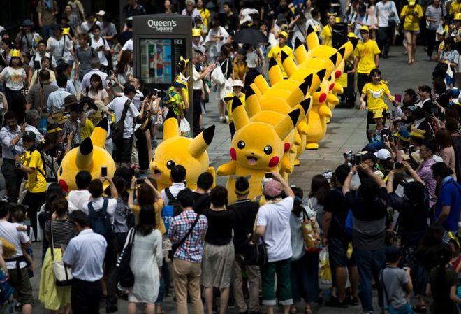Улицы Йокогамы заполонили Пикачу