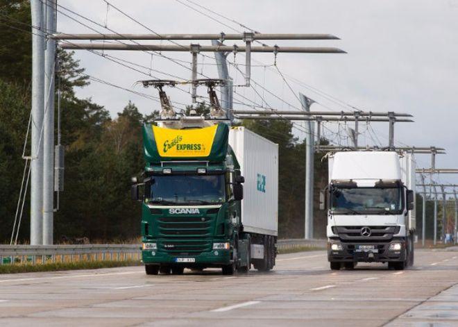 В Германии грузовики переделают в троллейбусы