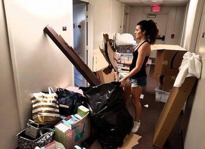 В США студентки до неузнаваемости переделали комнату общежития