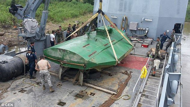 В Колумбии обнаружили субмарину для перевозки наркотиков