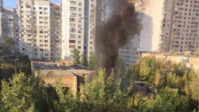 В Киеве загорелся детский сад