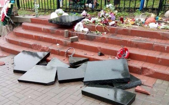 В Киеве житель Севастополя разбил мемориал Небесной сотни