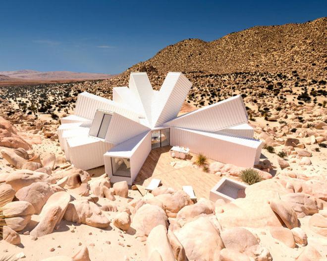 В пустыне появится необычный дом из контейнеров