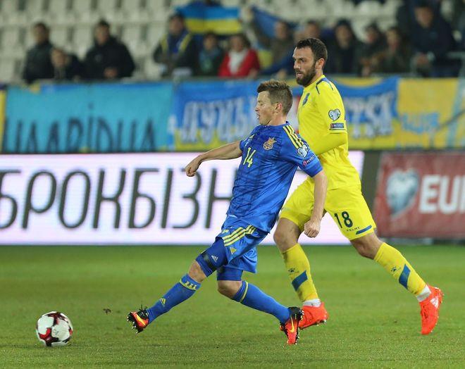 Украина с трудом одержала победу над командой Косово