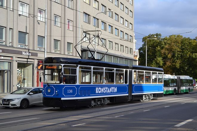 В Таллинне состарили чешские трамваи