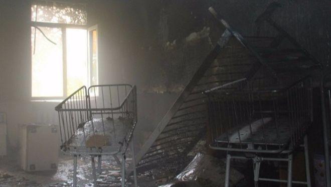 В Донецке горел роддом: обнародованы фото