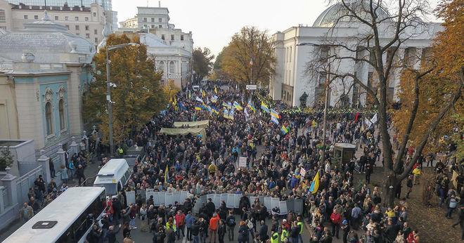 Полиция открыла уголовное производство из-за столкновения под Верховной Радой
