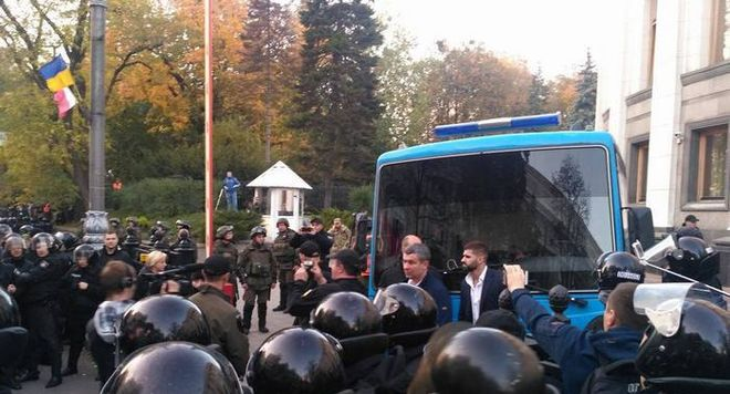 В центре Киева сегодня задержали 11 активистов