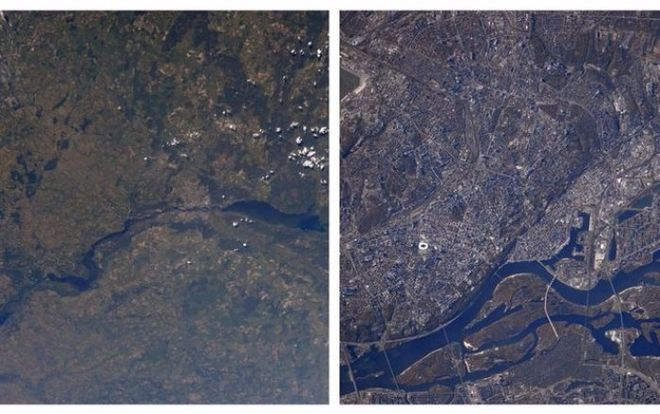 Астронавт NASA показал Киев из космоса