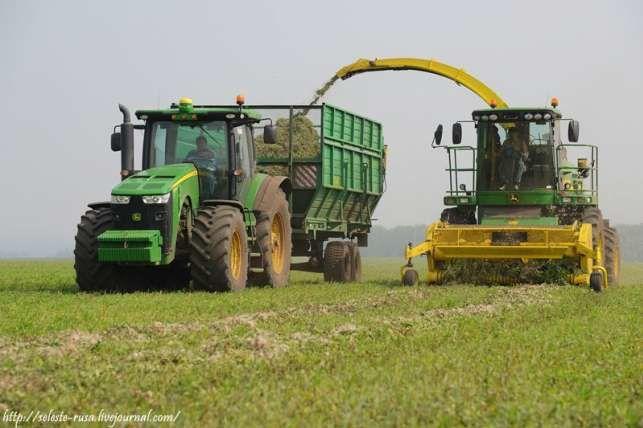 фото комбайны и трактора