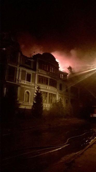 В Киеве горит дом переселенцев