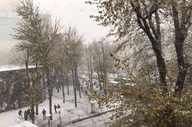 Харьковчане делятся фото снегопада