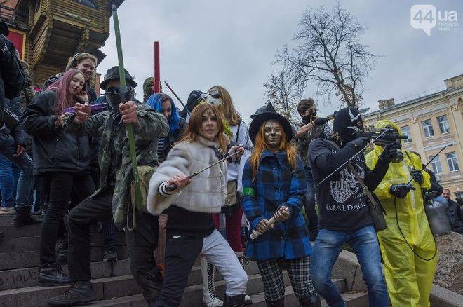 По улицам Киева прошлись зомби