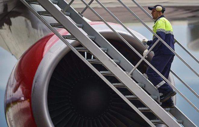 В Германии ураган сдул российский самолет