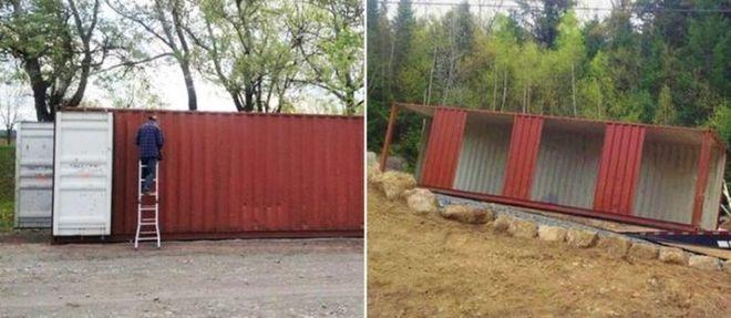 В Канаде девушка построила дом из грузовых контейнеров
