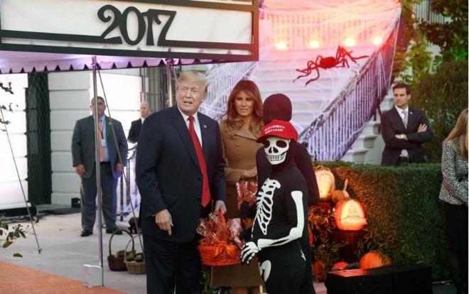 Как Трамп отметил Хеллоуин