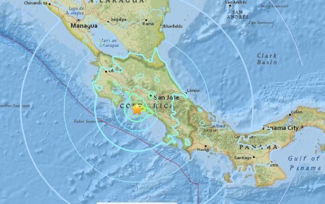 В Коста-Рике произошло мощное землетрясение