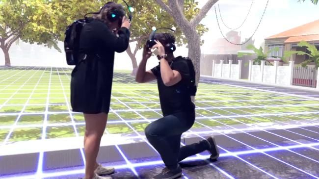 Австралиец сделал предложение своей девушке в виртуальной реальности