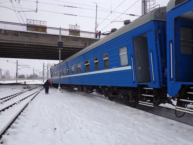 С рельсов сошел поезд, который направлялся из Беларуси в Украину